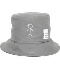 mr. thom icon motif bucket hat grey