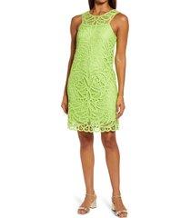 lilly pulitzer(r) siesta shift dress, size 6 in matcha green knit battenburg at nordstrom