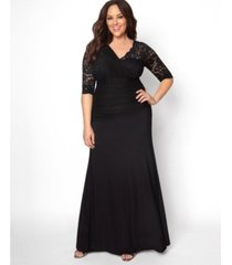 kiyonna women's plus size soiree evening gown