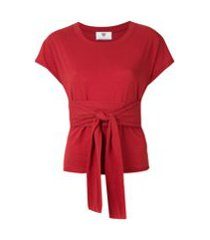 andrea bogosian t-shirt rondal com amarração - vermelho