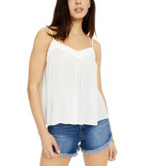 hippie rose juniors' crochet-trimmed swing tank