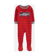 macacão pijama carter's bombeiro vermelho