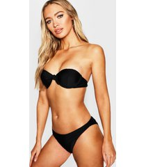 mix & match underwired moulded push up top, black