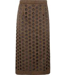 maison margiela perforated skirt