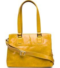 salerno shopper lilje bags top handle bags geel adax