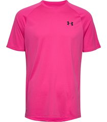 ua tech 2.0 ss tee t-shirts short-sleeved rosa under armour