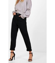 high rise mom jeans, black