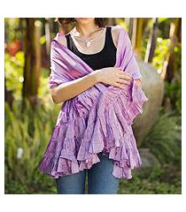 scarf, 'orchid ruffles' (thailand)