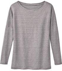linnen jersey shirt, zilvergrijs 40/42