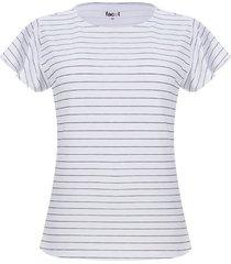camiseta mujer rayas delgadas color verde, talla s