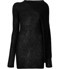 rick owens cape tunic jumper - black