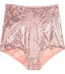 dolce & gabbana calcinha hot pants de paetês - rosa
