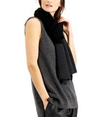 eileen fisher colorblocked merino wool scarf