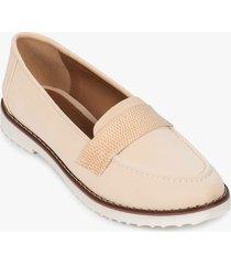 zapatos tipo mocasin en textil y sintético para mujer