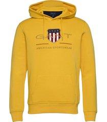 archive shield hoodie hoodie trui geel gant