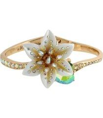 betsey johnson lily flower bangle bracelet