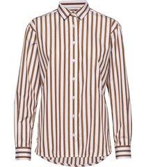 capri långärmad skjorta brun totême
