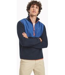 tommy hilfiger men's essential hooded popover sweater sky captain - xxl