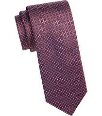 silk woven medallion tie