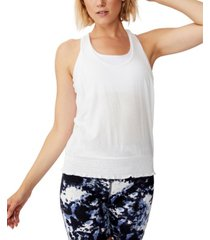 cotton on ruched hem tank top
