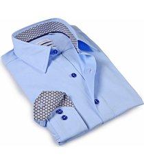 levinas men's tailored-fit dress shirt - sky blue - size 15.5