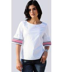 blouse alba moda wit::rood::marine