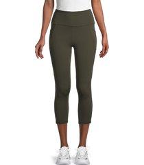x by gottex women's rachel capri leggings - midnight - size s
