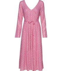 maca, 635 stars poly jurk knielengte roze stine goya