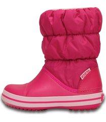 bota crocs winter puff boot kids rosa - kanui