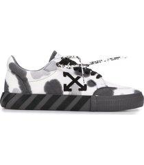 off-white vulcanized tie-die low-top sneakers