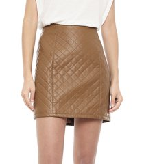 falda vero moda diamond marrón - calce regular