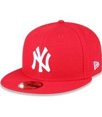 bonã© new era 5950 new york yankees aba reta vermelho - vermelho - masculino - dafiti