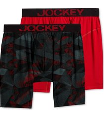 jockey men's 2-pk. rapidcool midway boxer briefs