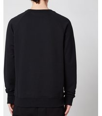 balmain men's eco design flock sweatshirt - black/white - xxl