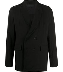 ann demeulemeester relaxed fit blazer - black