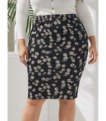 falda de gasa calico talla grande