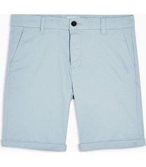 mens blue stretch skinny chino shorts