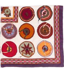 hermes belles du mexique multicolor cashmere silk shawl scarf purple/multicolor sz: