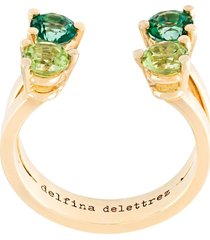 delfina delettrez 'dots' phalanx midi ring - metallic