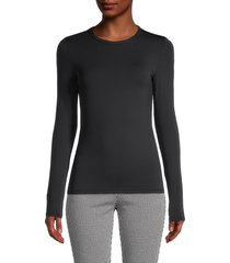 st. john women's long-sleeve jersey top - black - size xl