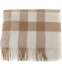 burberry check print cashmere scarf