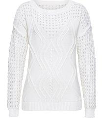 maglione con maniche a pipistrello (bianco) - rainbow