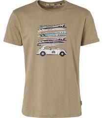 """noize t-shirt, s/s, r-neck, print """"surfb stone beige"""