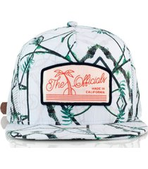 gorra blanca official real tropical whiteout