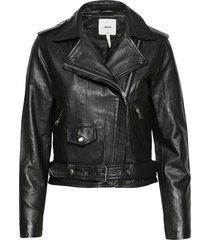 objnandita leather jacket noos leren jack leren jas zwart object
