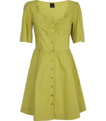 pinko popeline square neck dress