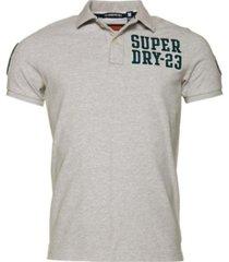 superdry men's oldskool superstate pique polo shirt