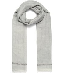 'silver' cashmere scarf