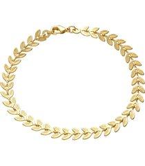 bracciale placcato oro con spighe per donna