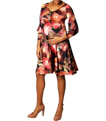 women's tiffany rose pixie a-line maternity dress, size 5 - blue